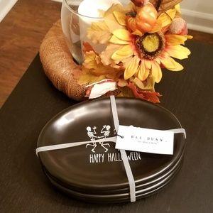 Rae Dunn LL Halloween Oval Tasting Plates NWT